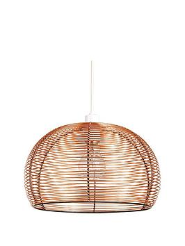 ideal-home-manhattan-copper-domed-pendant-shade