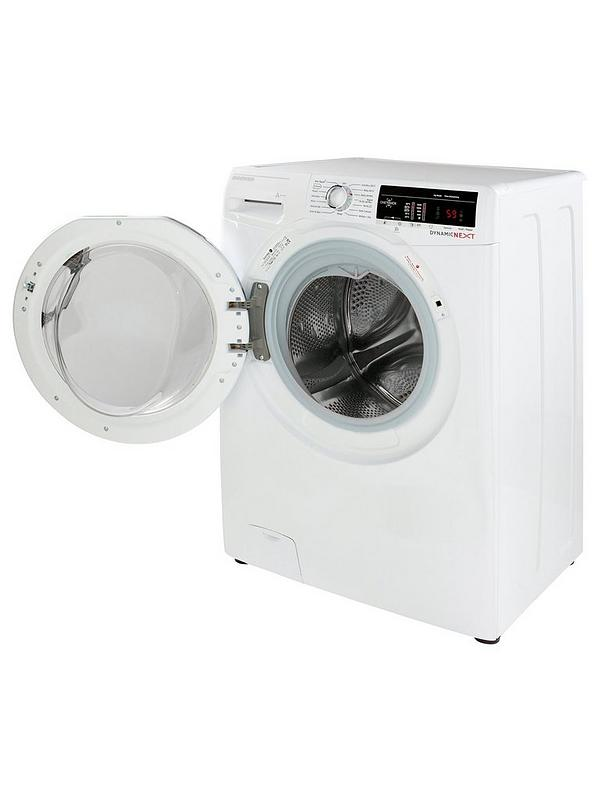 Dynamic Next DXOA49C3 9kg Load, 1400 Spin Washing Machine with One Touch -  White/Chrome
