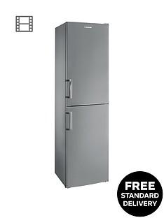 Hoover HVBF 5172AHK 55cmFrost Free Fridge Freezer- Silver