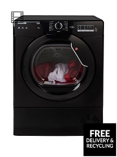 hoover-link-hlc8lgb-8kgnbspcondenser-sensor-tumble-dryer-with-one-touchnbsp--black