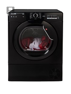 Hoover Link HLC8LGB 8kgCondenser Sensor Tumble Dryer with One Touch- Black