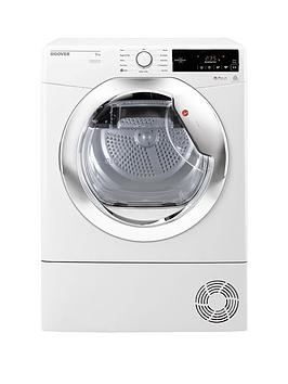 hoover-dynamic-nextnbspdxc8tce-8kgnbspload-aquavision-condenser-tumble-dryer-with-one-touch-whitechrome