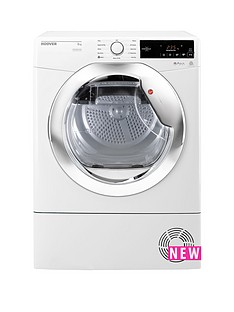 Hoover One TouchDXC8TCE 8kgCondenser Tumble Dryer - White/Chrome