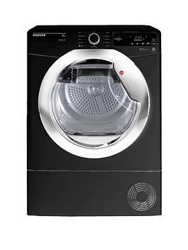 Hoover Dynamic Next Dxc8Tceb 8Kg Load, Aquavision Condenser Tumble Dryer With One Touch - Black/Chrome