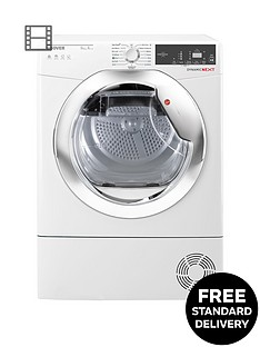 hoover-dynamic-nextnbspdxh9a2tce-9kgnbspload-aquavision-heatnbsppump-tumble-dryer-with-one-touch-whitechrome