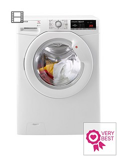 Hoover Dynamic Next DXOA147LW3 7kg Load, 1400 Spin Washing Machine with One Touch - White