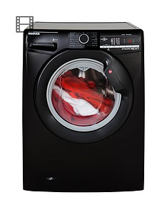 Hoover Dynamic Next DXOA67B3B 7kg Load, 1600 Spin Washing Machine with One Touch - Black
