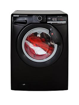 Hoover Dynamic Next Dxoa68Lb3B 8Kg Load, 1600 Spin Washing Machine With One Touch - Black
