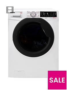Hoover Dynamic Extreme DWFT413AH8 13kg Load, 1400 Spin Washing Machine with One-Fi Extra - White/Tinted
