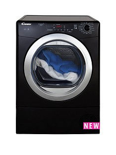 Candy Grand O Vita SmartGVS C9DCGB 9kgCondenser Tumble Dryer - Black/Chrome