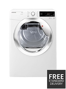Hoover Dynamic DX C10TCE 10kg Condenser Tumble Dryer - White/Chrome