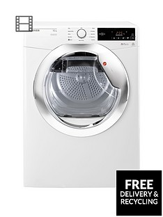 Hoover Dynamic Next DXC10TCE 10kg Aquavision Condenser Tumble Dryer with One Touch - White/Chrome