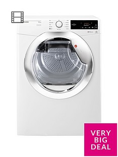 hoover-dynamic-next-dxc10tce-10kgnbspaquavision-condenser-tumble-dryer-with-one-touch-whitechrome