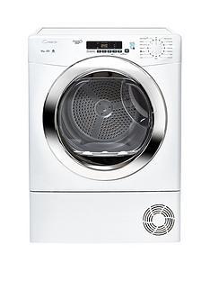 Candy Grand O VitaGVSC10DCG 10kgCondenser Sensor Tumble Dryer with Smart Touch - White/Chrome
