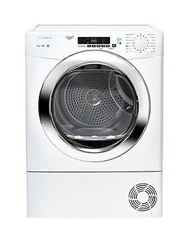 Candy Grand O Vita Gvsc10Dcg 10Kg Load Condenser Sensor Tumble Dryer With Smart Touch - White/Chrome