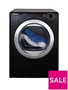 Candy Grand OVita Smart GVSC10DCGB 10kgLoad Condenser Tumble Dryer - Black/Chrome