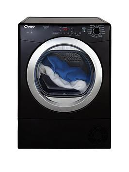Candy Grand'O Vita Gvsc10Dcgb 10Kg Load Condenser Sensor Tumble Dryer With Smart Touch - Black/Chrome