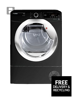 hoover-dynamic-next-dxc10tceb-10kg-aquavision-condenser-tumble-dryer-with-one-touch-blackchrome