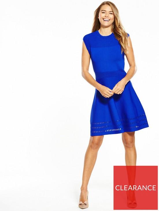 78c3d4e853b1c ... Ted Baker Aurbray Knitted Skater Dress. View larger