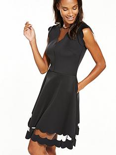 ted-baker-sharlot-mesh-paneled-scallop-dress