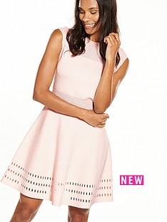ted-baker-knitted-skater-dress-nude-pink