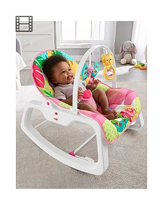 Fisher-Price Rainforest Infant to Toddler Rocker - Pink