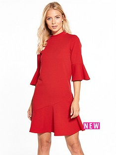 v-by-very-asymmetric-hem-dress-red