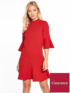 v-by-very-crepe-asymmetric-hem-dress-red