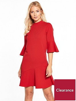 v-by-very-crepe-asymmetric-hem-dress-red