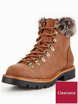 v-by-very-fey-chunky-sole-faux-fur-hiker-boot-brown
