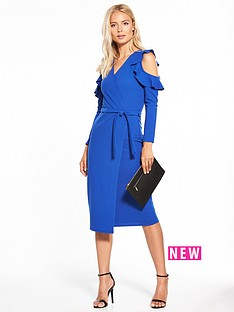 v-by-very-cold-shoulder-frill-detail-wrap-dress