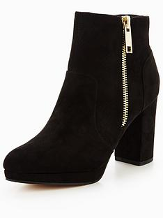 miss-selfridge-black-zip-platform-ankle-boot