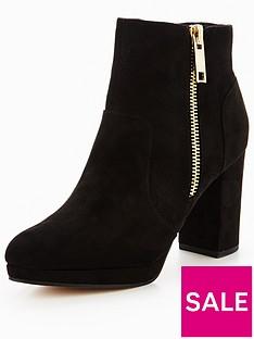 miss-selfridge-black-zip-platform-ankle-boot