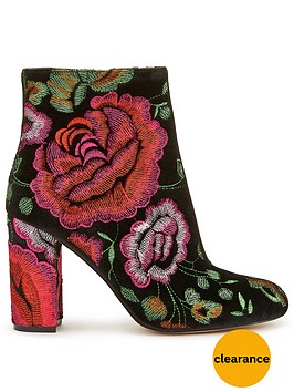 miss-selfridge-miss-selfridge-velvet-rose-embroided-ankle-boot