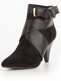 miss-selfridge-cone-heel-ankle-boot