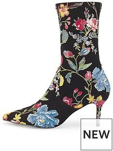 miss-selfridge-printed-kitten-heel-sock-ankle-boot