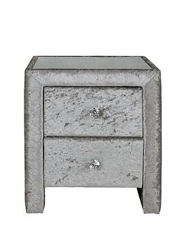 Crushed Velvet Bedside Table