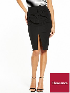 v-by-very-bow-detail-skirt-black