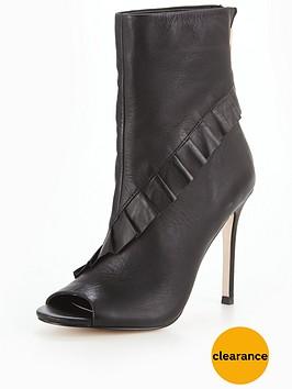 michelle-keegan-leather-ruffle-peep-toe-shoe-boot-black
