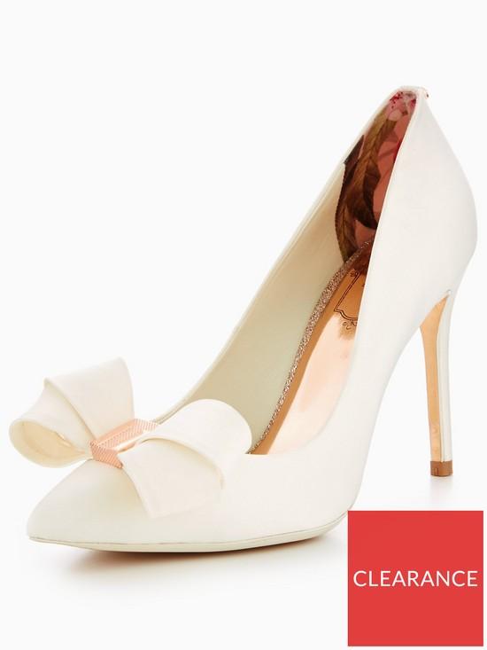 efc3633dbc5a8 Ted Baker Skalett Bow Court Shoe - Ivory