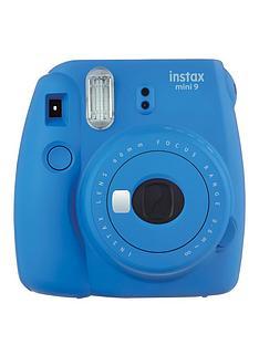 fuji-fujifilm-instax-mini-9-cobalt-blue-instant-camera-inc-10-shots-bright-blue