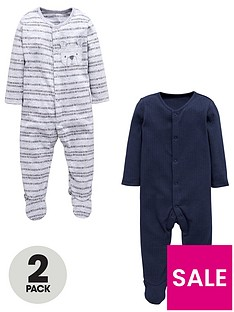 mini-v-by-very-baby-boys-2-pack-bear-sleepsuits