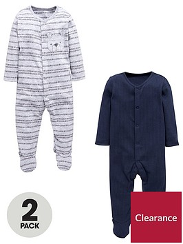 mini-v-by-very-baby-boys-2-pack-bear-sleepsuits