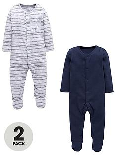mini-v-by-very-pack-of-2-baby-boys-bear-sleepsuits