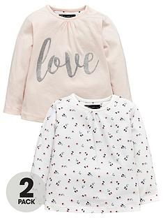 mini-v-by-very-baby-girls-2-pack-floral-amp-slogan-tops