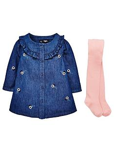 mini-v-by-very-baby-girls-frill-chambray-dress-amp-tight-set