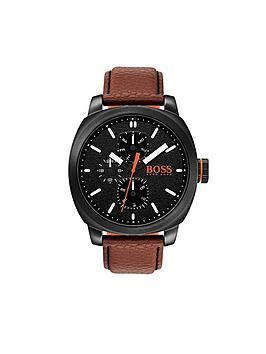 hugo-hugo-boss-orange-capetown-black-dial-brown-strap-mens-watch