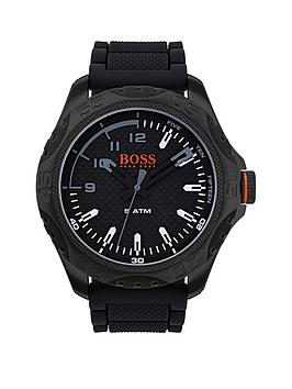 hugo-hugo-boss-orange-honolulu-black-dial-black-silicone-strap-mens-watch
