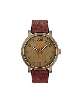hugo-hugo-boss-orange-bilbao-khaki-dial-brown-leather-strap-mens-watch