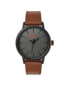 hugo-boss-orange-copenhagen-grey-dial-brown-strap-mens-watch